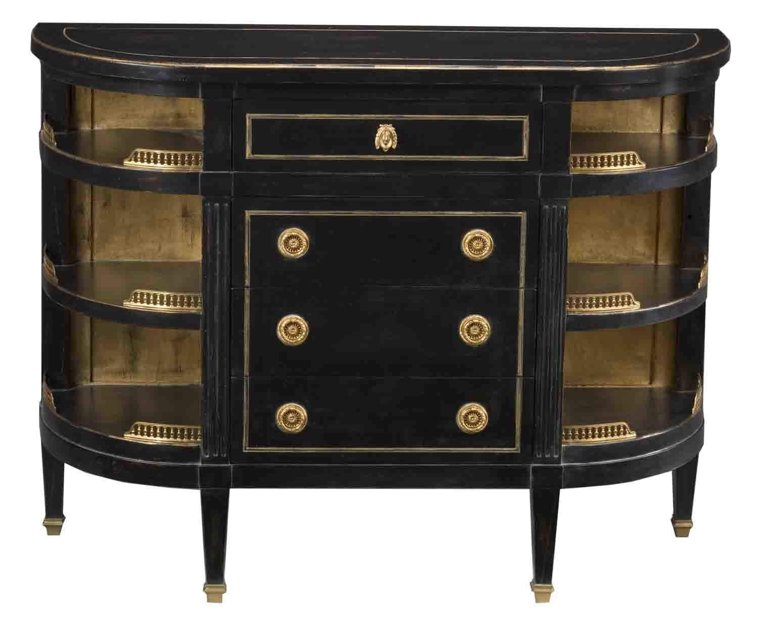 commode louis xvi rouge