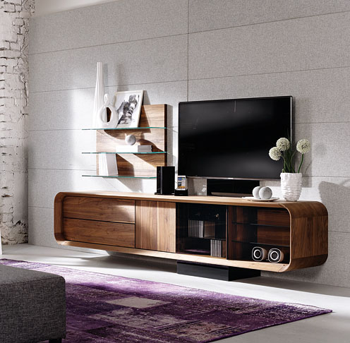 meuble tv design votre meuble design tv en noyer ou en ch ne. Black Bedroom Furniture Sets. Home Design Ideas